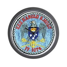 uss harold e. hold ff patch transparent Wall Clock