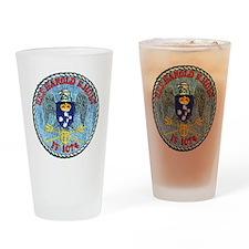 uss harold e. hold ff patch transpa Drinking Glass