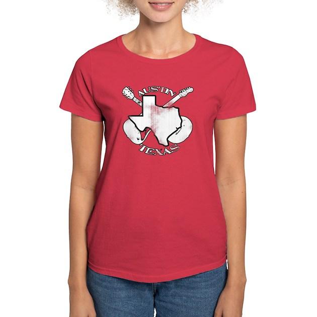 Austin texas guitars tee by wlarry for Texas tee shirt company