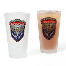 uss henderson patch transparent Drinking Glass