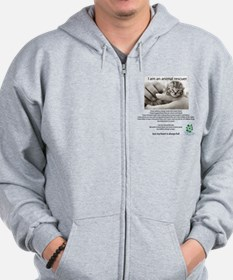 I am an Animal Rescuer Zip Hoodie