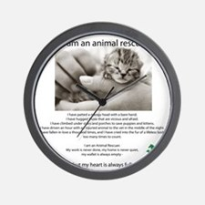 I am an Animal Rescuer Wall Clock