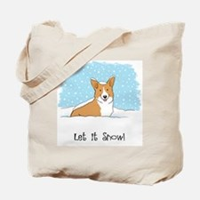 corgiLETITSNOWwords Tote Bag
