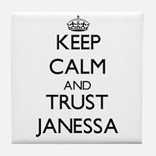 Keep Calm and trust Janessa Tile Coaster