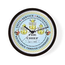 US Navy Chief Wall Clock