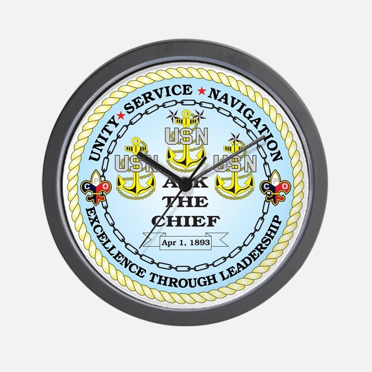 US Navy Chief Wall Clock