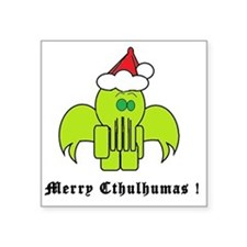"Merry Cthulhumas! Square Sticker 3"" x 3"""