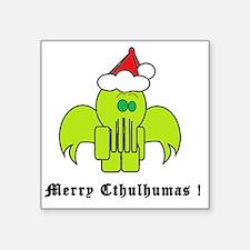 "Merry Cthulhumas! Square Sticker 3"" x 3"""