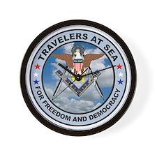 US Navy Travelers Wall Clock