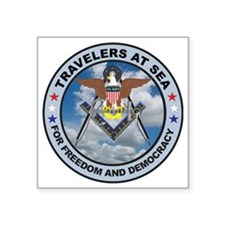 "US Navy Travelers Square Sticker 3"" x 3"""