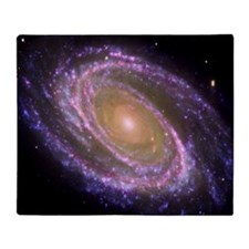 Violet Spiral Galaxy Throw Blanket
