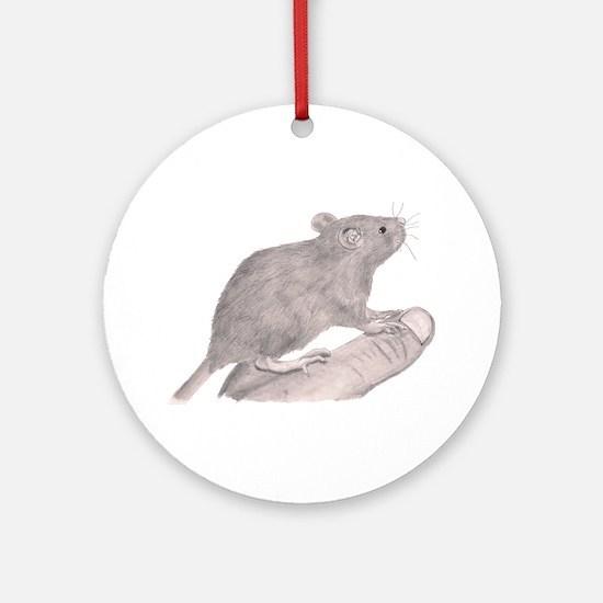 Baby Rat Round Ornament