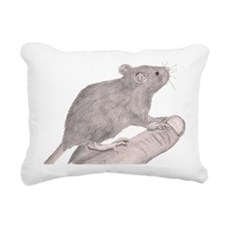 Baby Rat Rectangular Canvas Pillow