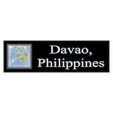 Davao Map Gifts Bumper Bumper Sticker