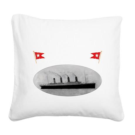 TG214x14whiteletTRANSBESTUSET Square Canvas Pillow