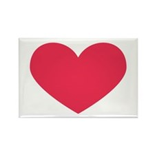 Red Heart Rectangle Magnet