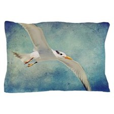 Beach Bird In Flight Pillow Case