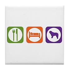 Eat Sleep Bergamasco Tile Coaster