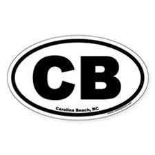 Carolina Beach, North Carolina Oval Stickers