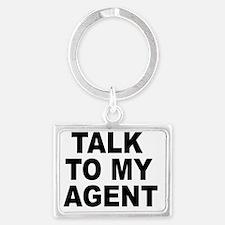 Talk To My Agent Landscape Keychain