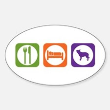 Eat Sleep Berger Oval Decal