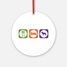 Eat Sleep Berger Ornament (Round)
