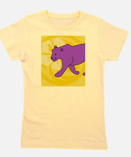 Panther Hexagon Ornament Girl's Tee