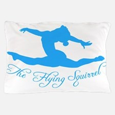 Tshirts-Girl-Solid-Blue Pillow Case