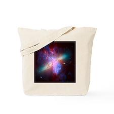 Fiery Galaxy Tote Bag