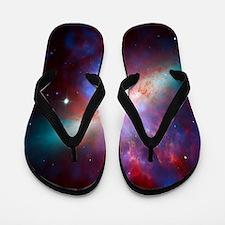 Fiery Galaxy Flip Flops