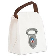 Obama Empty Chair - Toilet Seat Canvas Lunch Bag