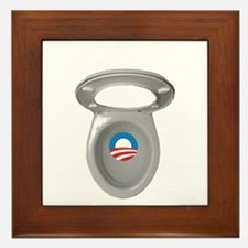 Obama Empty Chair - Toilet Seat Framed Tile