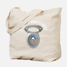 Obama Empty Chair - Toilet Seat Tote Bag