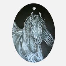 Silver Oval Ornament