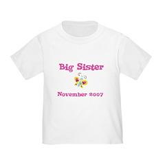 Big Sister November 2007 Toddler Tee