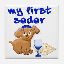 my first Seder Tile Coaster