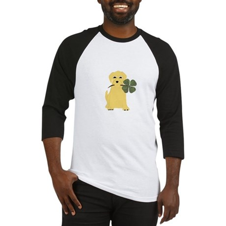 Lucky Yellow Lab Baseball Jersey