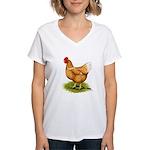 Golden Sex-link Hen Women's V-Neck T-Shirt