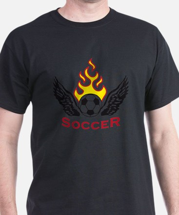 soccer wings fire T-Shirt