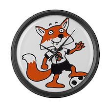 soccer fox Large Wall Clock