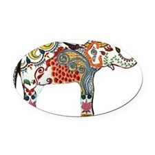 queen elephant Oval Car Magnet