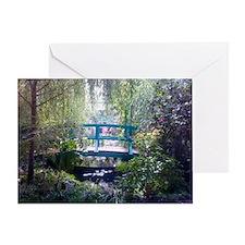 Monet Bridge Horizontal Greeting Card