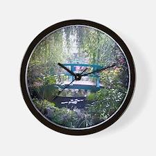 Monet Bridge Horizontal Wall Clock