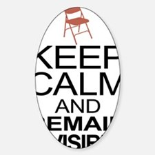 Obama Empty Chair - Remain Invisibl Decal