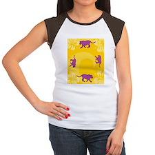 Panther Rectangular Loc Women's Cap Sleeve T-Shirt