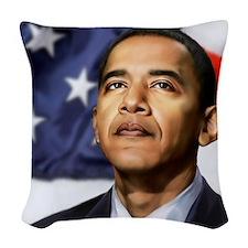 Obama Woven Throw Pillow