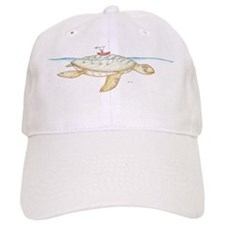 canoe on giant turtle Baseball Cap