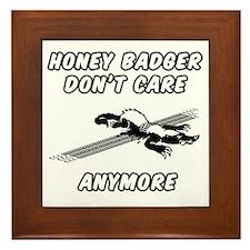 Honey Badger Framed Tile