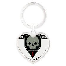 1st Zombie Hunters Heart Keychain
