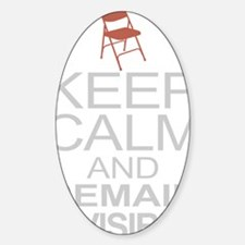 Obama Empty Chair - Remain Invisibl Sticker (Oval)